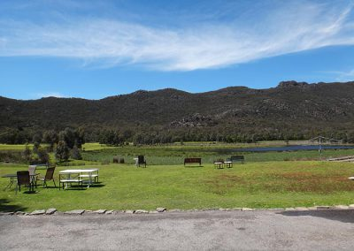 View from back of Halls Gap Motel